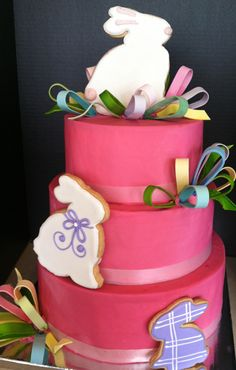 3 Tier Easter Bunny Cake Edible Art of Charlotte