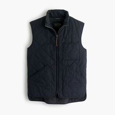 J.Crew Gift Guide: men's Sussex quilted vest.