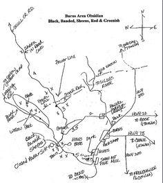 burns oregon rock collecting map