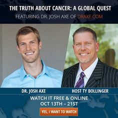 For the first time, over 100 doctors, scientists, researchers and cancer survivors have agreed to go on camera and tell their stories. Watch this FREE Docu-series starting October 13th and discover the truth and controversial findings about cancer!
