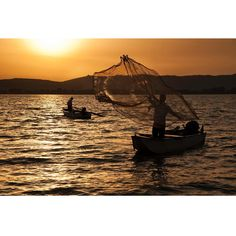 Photo taken by @stevemccurryofficial // I shot these fisherman at sunset on Lago Trasimeno, Italy, which is in province of Perugia, in Umbria.  It is rich in fish and surrounded by forests, vineyards, fields, and olive groves.