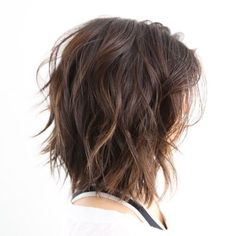 Brown Shag With Subtle Highlights  The layered, light-as-a-feather tips help take some of the wight out of your hair and give it some great shape and movement.