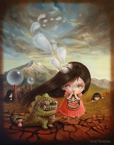 Ania Tomicka, a fave artist of mine Art And Illustration, Creative Illustration, Art Illustrations, No Ordinary Girl, Sassy, Lowbrow Art, Surreal Art, Surreal Portraits, Design Graphique