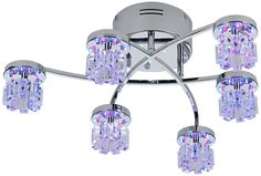 Possini Euro LED Light Show Semi-Flush Ceiling Light - EuroStyleLighting.com #EuroStyleHoliday
