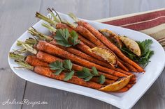 Roasted Carrots with Moroccan Spices (adapted from Cooking Light)