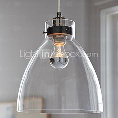Industrial pendant light by West Elm. This contemporary glass pendant light would look great hung over an island or dining table. Industrial Lighting, Home Lighting, Modern Lighting, Lighting Design, Kitchen Lighting, Island Lighting, Entryway Lighting, Modern Lamps, Apartment Lighting