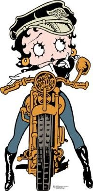 Betty Boop moto girl