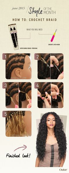 Crochet braiding is an installation method for bulk (or non-wefted) hair extensions using a crochet needle (aka latch hook needle) to pull the hair...