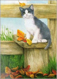 Art painting of Meowy feeling Blessed. Cat Drawing, Painting & Drawing, I Love Cats, Crazy Cats, Image Chat, Illustration Art, Illustrations, Vintage Cat, Beautiful Cats