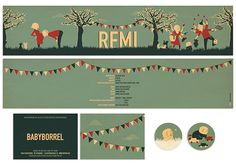 Birth Announcement Remi by babs raedschelders, via Behance