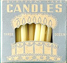 I love birthday candles!  Mainly because they go on birthday cake, but I like to light them and blow them out, or just hold the tiny little light between my fingers.