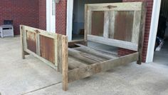 King size bed, reclaimed barn wood and barn tin.  One of the favorites I've built.