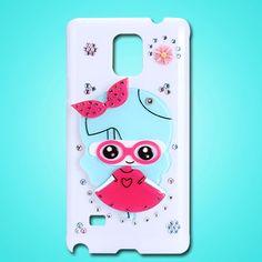 Galaxy Note Edge Cute Girl, Bunny , Teddy Hidden Mirror Case