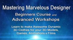 https://CGElves.com/learnMD Master Marvelous Designer 5 Software with our Marvelous Designer Beginners Course & Advanced Workshops. Quickly create realistic dynamic 3D clothing for your 3D models, 3D animations, films, clothes for DAZ/ Poser models or iClone projects. No more sculpting wrinkles in ZBrush!   The Marvelous Training starts with a complete Marvelous Designer beginners course to introduce you to the MD5 software.  Next in the Marvelous Designer workshops you will learn how to...