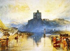 """Joseph Mallord William Turner : Norham Castle, on the Tweed (for """"Rivers of England"""") : Museum Art Images : Museuma"""