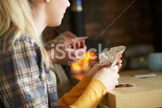Young people playing cards Royalty Free Stock Photo