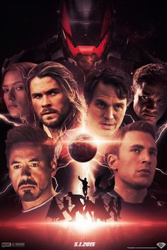 Avengers: Age of Ultron (Fan Poster) || Natasha Romanoff, Thor Odinson, Bruce Banner, Clint Barton, Tony Stark, Steve Rogers || 600px × 900px || #fanedit