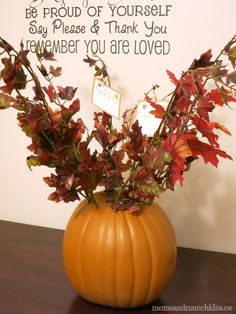 Thanksgiving Craft for Kids  - Centerpiece Idea & Family Tradition