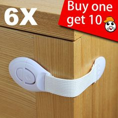 HSN 6X Baby Drawer Cupboard Cabinet Door Drawers Lengthened Safety Lock Latch