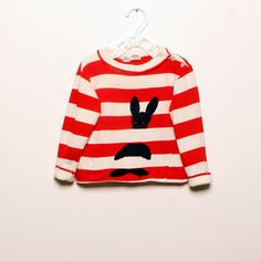 Striped t-shirt with bunny