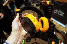 This over-the-ear headset is powered by a 1,200mAh battery that'll also charge your phone via a USB port while you're listening. | #music #headphones #CES2015 #audio