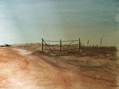 An Oklahoma farm in later summer light. 🎨