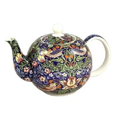 Amazon.com | William Morris Strawberry Thief Teapot 6 Cup Fine China English Teapot: Teapots