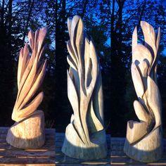 Sculptuur gemaakt uit inheemse eik. Jan Mastenbroek