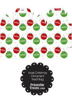 Noel Christmas Ornament Treat Bag from PrintableTreats.com