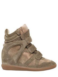Etoile 80mm Bekett Suede Wedge Sneakers