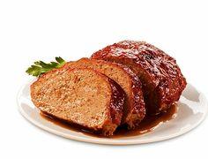 Easy Pleasing Meatloaf - Kraft Recipes - Uses Kraft StoveTop Stuffing mix Bbq Meatloaf, Meatloaf Recipes, Beef Recipes, Cooking Recipes, What's Cooking, Italian Meatloaf, Kraft Foods, Kraft Recipes, Honey