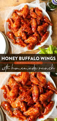 Your next game day or football party must have this easy appetizer recipe or snack idea! These crispy, sticky Honey Buffalo Wings are finger-licking good. Don't forget the homemade Ranch for dipping! Best Party Appetizers, Easy Appetizer Recipes, Creamed Honey, Homemade Ranch, Buffalo Wings, The Ranch, Finger Foods, Chicken Wings, Stuffed Peppers