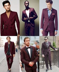 In today's post, we are going to introduce the top 3 alternative suits for men. The Burgundy Suit Burgundy has started to. Maroon Suit, Burgundy Suit, Ron Burgundy, Mens Fashion Suits, Mens Suits, Men's Fashion, Suit Men, Fashion Trends, Sharp Dressed Man