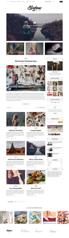 Blog Home - Responsive WordPress Blog Theme (Demo 1). Live Preview & Download: https://themeforest.net/item/blog-home-responsive-wordpress-blog-theme/14826875?ref=ksioks