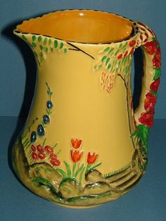 Ironstone Vase With Lid From Staffordshire Earnest Burleigh Lovely