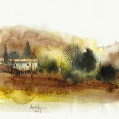 Watercolor Sketch, Watercolor Landscape, Watercolor Illustration, Abstract Landscape, Landscape Paintings, Watercolor Paintings, Abstract Art, Watercolors, Paintings I Love