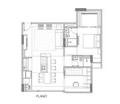 Plano de la planta del apartamento