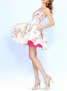 Special Fashion Homecoming Dress, Chic Flowers Prom Dress,Sweetheart Short Cocktail Dress ,