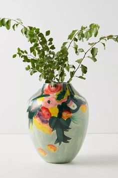 Ceramic Pottery, Ceramic Art, Slab Pottery, Thrown Pottery, Ceramic Decor, Ceramic Bowls, Painted Pottery, Painted Vases, Ceramic Painting
