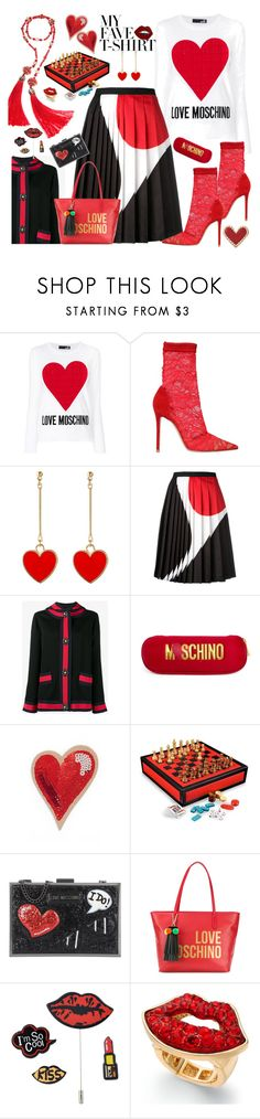 """Moschino street style!Off with their heads"" by ellenfischerbeauty ❤ liked on Polyvore featuring Love Moschino, Gianvito Rossi, Neil Barrett, Gucci, Moschino, Kate Spade, Wilton and Thalia Sodi"