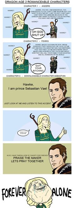 #dragonage #bioware Whahaha  you'd hav to b a female character in Dragonage 2 to get this