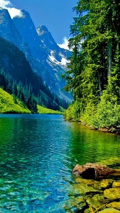 The Natural beauty of lake scenery. Wallpaper of Beautiful Mountain, Cloud, Lake, Small Town Countryside Scenery Backgrounds for Mobile Phone & Hand Phone such as iPhone and Android Phone & Tablet Devices. Nature Pictures, Cool Pictures, Beautiful Pictures, Beautiful World, Beautiful Places, Amazing Places, Landscape Photography, Nature Photography, Landscape Photos