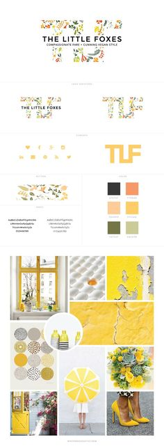 The Little Foxes Blog Design by White Oak Creative - logo design, wordpress theme, mood board inspiration, blog design idea, graphic design, branding