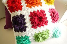Cute pillow, I could do without the flower portion but I like the color blocks.