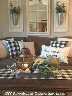 10 Easy DIY Farmhouse Wooden Craft Ideas #diyhomedecor #diyfarmhouse Home Living Room, Living Room Designs, Rustic Living Room Decor, Living Room Decor Brown Couch, Country Decor, Farmhouse Decor, Farmhouse Style, Farmhouse Design, Modern Farmhouse