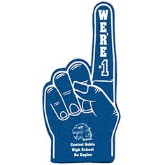 Navy Blue Foam Shape Number 1 Hand