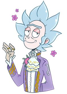 Dandy Rick, Pocket Mortys, by ecokitty @ Tumblr | Rick and Morty