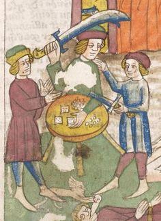 Heidelberger Bilderkatechismus' (Handschrift) ; Biblia pauperum (Blockbuch) ; Totentanz (Blockbuch) u.a. Ostmitteldeutschland, um 1455/1458 Cod. Pal. germ. 438  Folio 14r