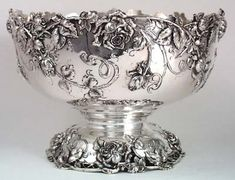 Bailey Banks Biddle Sterling Punch Bowl 1906...I think it would be lovely to have a gorgeous silver punch bowl for those rare occasions...