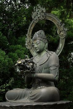 #Buddha with flower offering. #buddhistart #buddhism